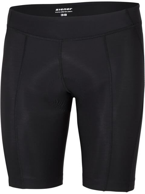 Ziener Chocci X-Function fietsbroek kort Dames zwart